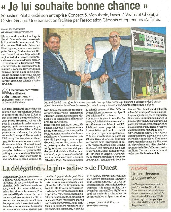 Courrier de l'ouest - 5 septembre 2018